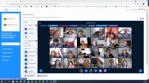 On - line setkání s partnerskou školou v Mariaposching